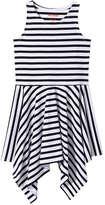 Joe Fresh Kid Girls' Stripe Handkerchief Dress, JF Midnight Blue (Size S)