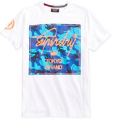 Superdry Men's City Brand Camo Graphic-Print Logo Cotton T-Shirt
