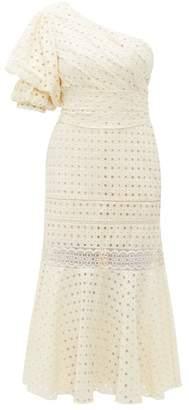 Johanna Ortiz Better Than Gold One-shoulder Cotton Dress - Womens - Ivory
