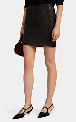 The Row Women's Loattan Leather Miniskirt - Black