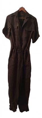 Comptoir des Cotonniers Khaki Viscose Jumpsuits