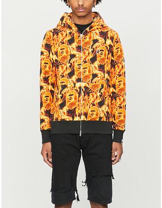 A Bathing Ape Flame cotton-jersey hoody