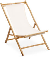 One Kings Lane Outdoor Bamboo Deck Chair, White