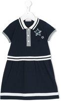 Moncler striped polo dress - kids - Cotton/Spandex/Elastane - 4 yrs