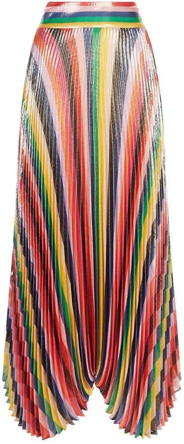 Alice + Olivia Katz Sunburst Pleated Midi Skirt