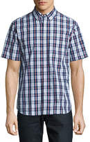 Black Brown 1826 Plaid For Dad Short Sleeve Shirt