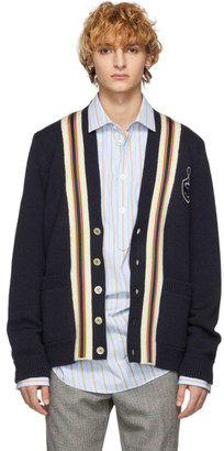 Gucci Navy Anchor Crest Cardigan