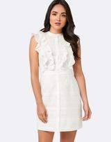 Forever New Paula Ruffle Jacquard Shirt Dress