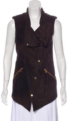 Michael Kors Leather Draped Vest