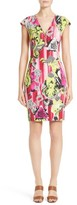 Versace Women's Print Jersey Cap Sleeve Dress