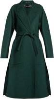 Rochas Double-faced waist-tie wool coat