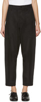 Y's Ys Black Wide Tuck Trousers