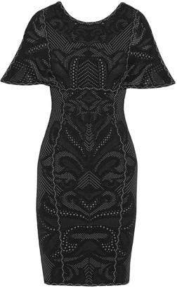 Herve Leger Janie Jacquard-knit Mini Dress