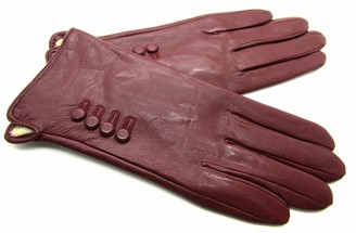 L & E Ladies New Premium Quality Super Soft Real Leather Gloves (Small