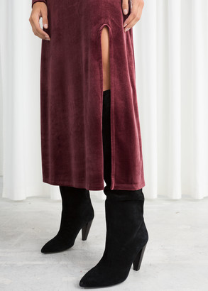 And other stories Velvet Turtleneck Midi Dress