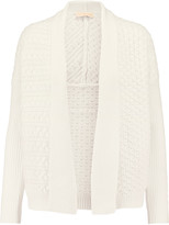 Tory Burch Cable-knit cotton-blend cardigan