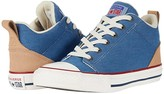 Converse Chuck Taylor(r) All Star(r) Ollie Twill - Mid (Little Kid/Big Kid) (Blue Slate/Court Blue/Champagne) Boy's Shoes
