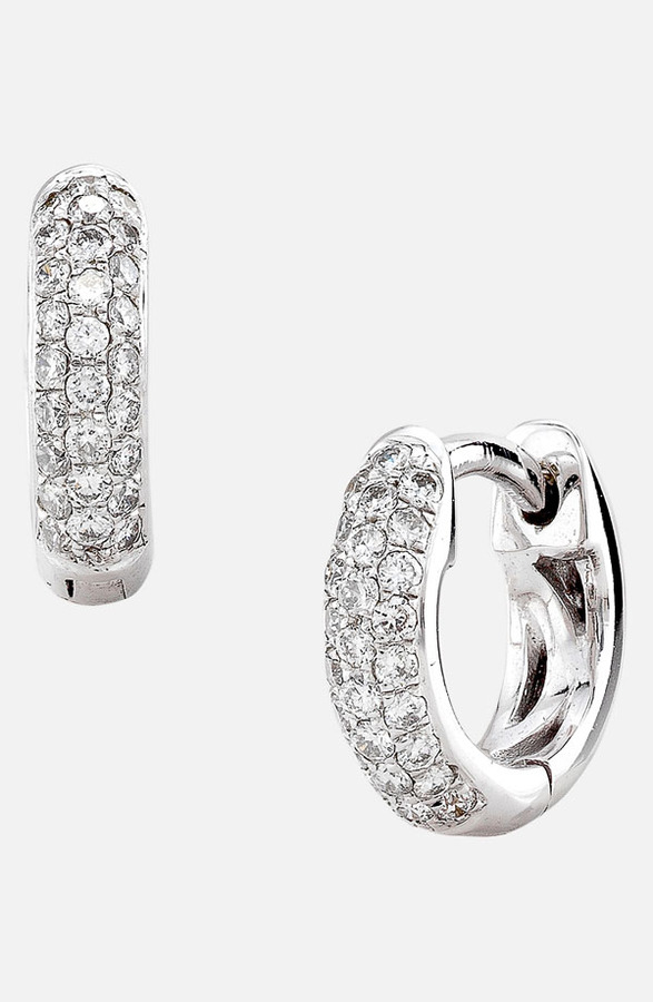 Nordstrom Bony Levy 3-Row Pave Diamond Hoop Earrings Exclusive)
