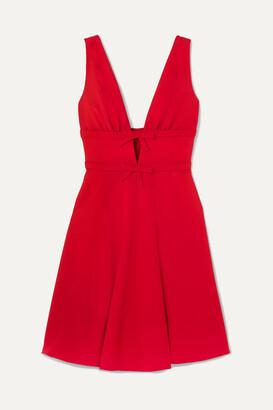 Miu Miu Bow-embellished Cady Dress - Red