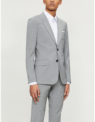 Sandro Single-breasted stretch-wool blazer