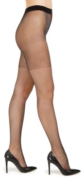 DKNY Illusion Over-The-Knee Fishnet Tights
