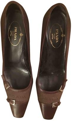 Prada Brown Leather Heels