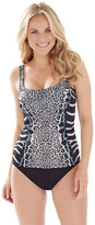 Chico's Savannah Animal-Print Tankini Swimsuit Set
