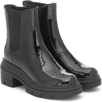 Stuart Weitzman Norah patent leather Chelsea boots