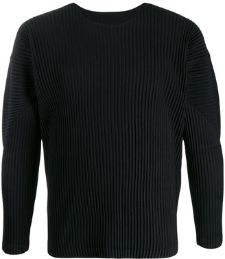 Homme Plissé Issey Miyake Long-Sleeved Pleated Top