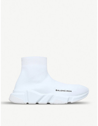 Balenciaga Women's White Speed Woven Mid-Top Trainers, Size: EUR 40 / 7 UK Women