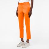 Paul Smith Women's Slim-Fit Burnt Orange Wool Trousers