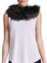 Adrienne Landau Multicolor Fox Fur Infinity Scarf