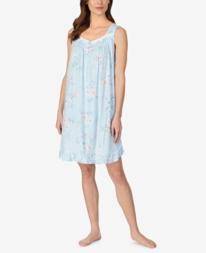 Eileen West Floral Printed Sleeveless Nightgown