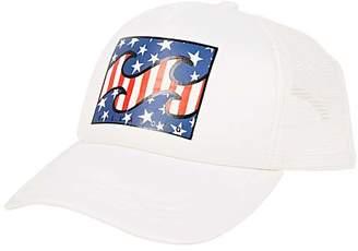 Billabong Women's Baseball Caps WHITE - White Across Waves Trucker Hat