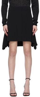 Victoria Victoria Beckham Black Crepe Flounce Miniskirt