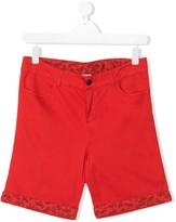 Paul Smith TEEN zebra print cotton shorts