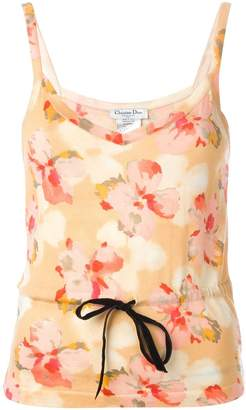 Christian Dior Pre-Owned floral print top