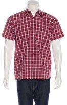 Carven Plaid Short Sleeve Shirt