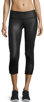 Alo Yoga Range Coated Capri Sport Leggings, Glossy Black