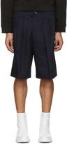 Acne Studios Navy Alex H Twill Shorts