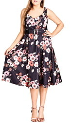 City Chic Poppy Bloom Fit & Flare Dress