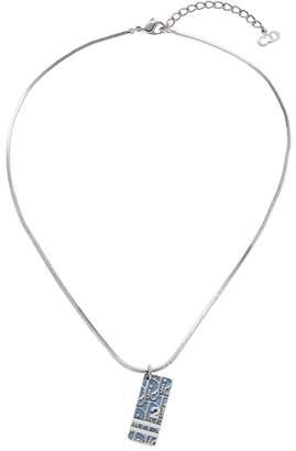 Christian Dior Blue Varsity Diorissimo Enamel Necklace