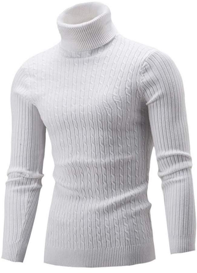 966e0e28f975 Mens White Turtleneck Sweater - ShopStyle Canada