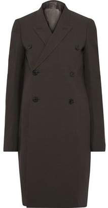 Rick Owens Double-breasted Wool-blend Crepe Coat