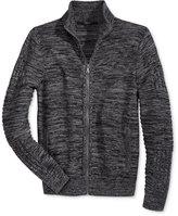 GUESS Men's Dawson Marled Knit Full-Zip Sweater