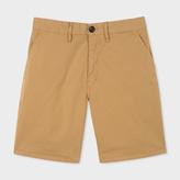 Paul Smith Men's Sand Garment-Dyed Stretch Pima-Cotton Shorts
