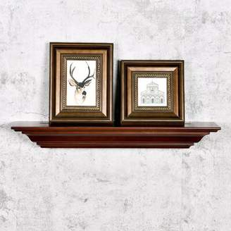 "Andover Mills Lorelai Molding Wall Shelf Size: 3.25"" H x 24"" W x 5.25"" D, Finish: Dark Brown"