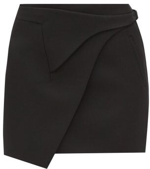 Wardrobe NYC Release 05 Merino-wool Wrap Mini Skirt - Black