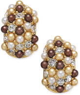 Charter Club Erwin Pearl Atelier for Gold-Tone Multi-Bead Huggy Hoop Earrings, Only at Macy's