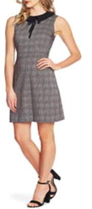 Cynthia Steffe CeCe by Contrast Collar Menswear Plaid Dress